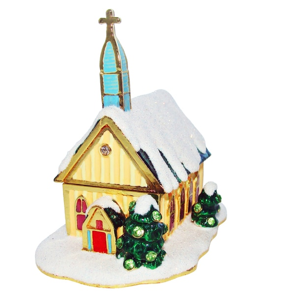 Objet d'art 'All Ye Faithfull' Church Trinket Box
