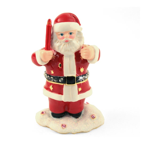 Objet d'art 'Ho Ho Ho Santa with Candle' Trinket Box