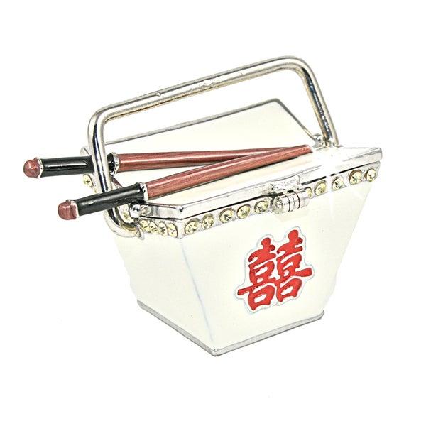Objet d'art 'Chopstix' Chinese Food Take Out Trinket Box