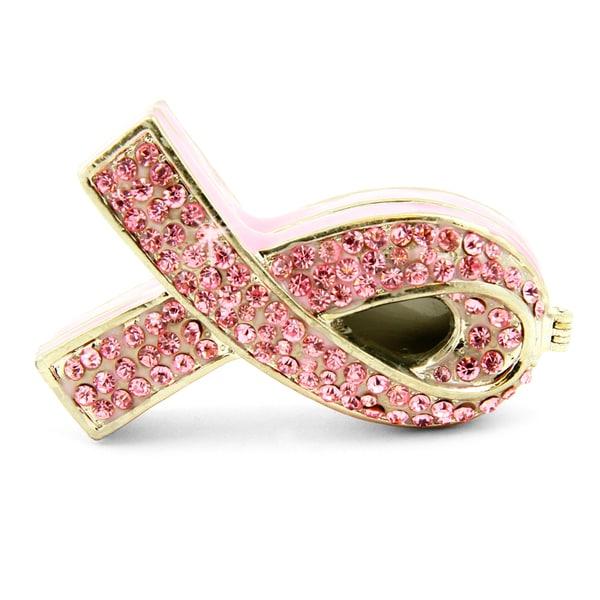 Objet d'art 'The Cure' Pink Ribbon Trinket Box