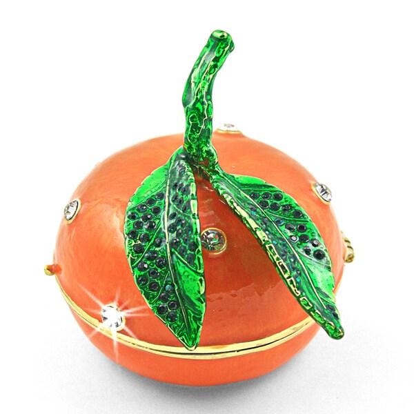 Objet d'art 'Mikan' Tangerine Trinket Box
