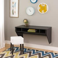 Prepac Soho Washed Ebony Floating Wood Desk