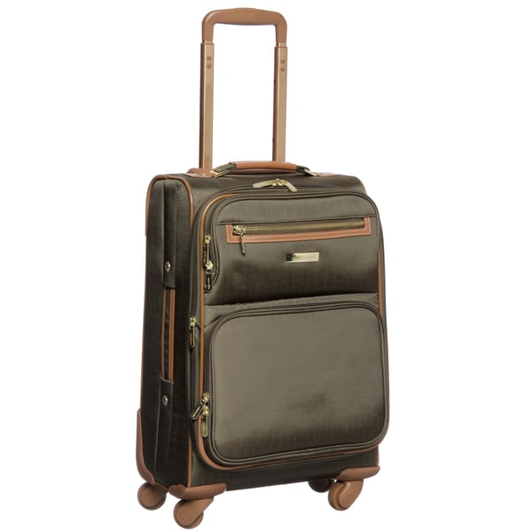 Anne Klein Jungle 20-inch Expandable Carry On Spinner Upright