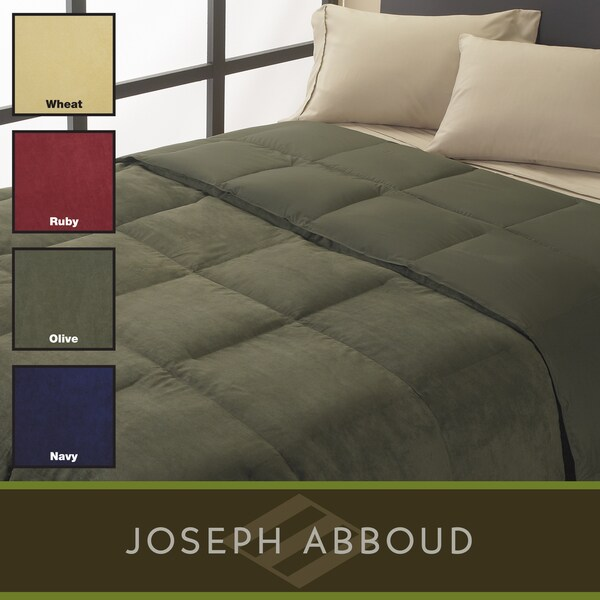 Joseph Abboud Grand Down Alternative Microsuede Comforter