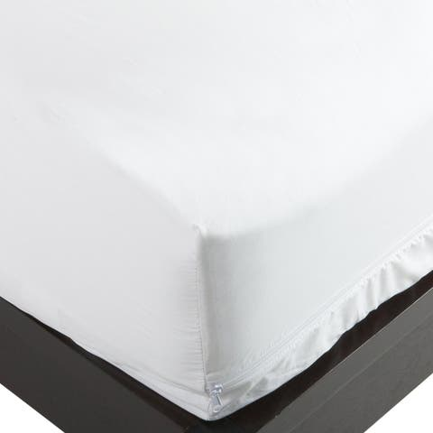 Hypoallergenic Bedbug Waterproof Cotton Top Complete Encasement Mattress Cover