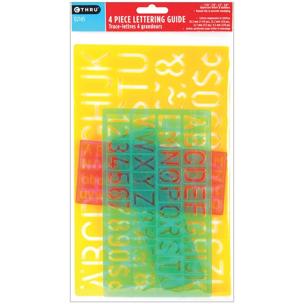Lettering Guides (Pack of 4)