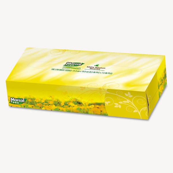 Marcal PRO Premium Recycled Facial Tissue (Pack of 30)