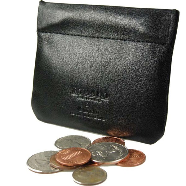 Romano Leather Slim Coin Pouch