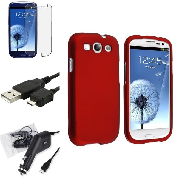 BasAcc Case/ Screen Protector/ Charger/ Cable for Samsung Galaxy S3