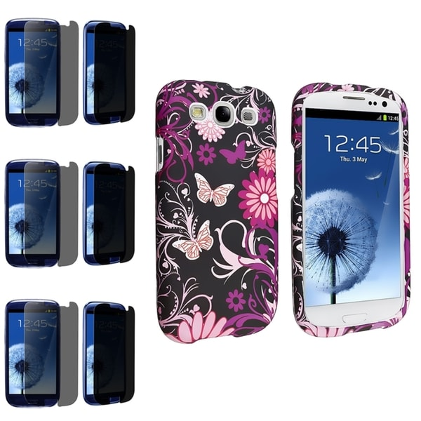 INSTEN Phone Case Cover/ Privacy Screen Protector for Samsung Galaxy S III/ S3
