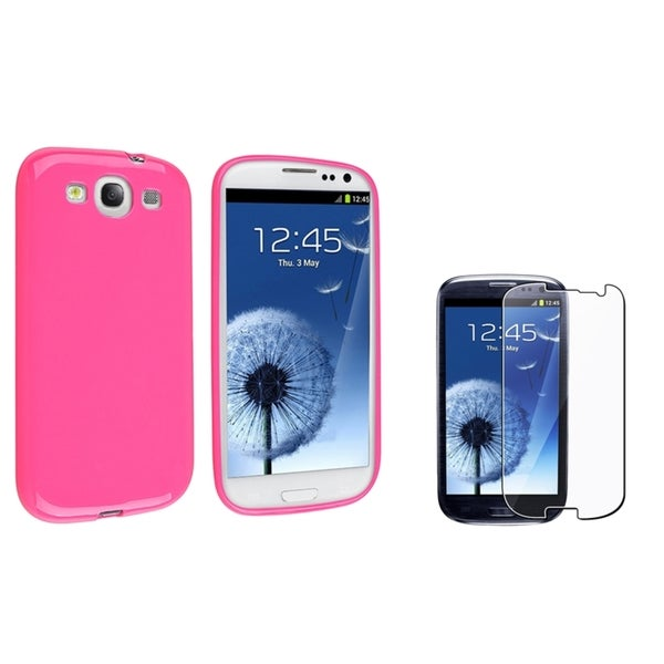 INSTEN TPU Phone Case Cover/ LCD Protector for Samsung Galaxy S III/ S3