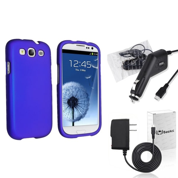 INSTEN Phone Case Cover/ Travel/ Car Charger for Samsung Galaxy S III/ S3