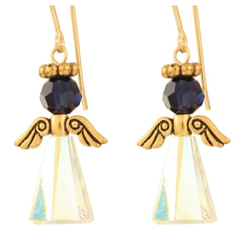 Ardent Designs Crystal Birth Stone Angel Earrings