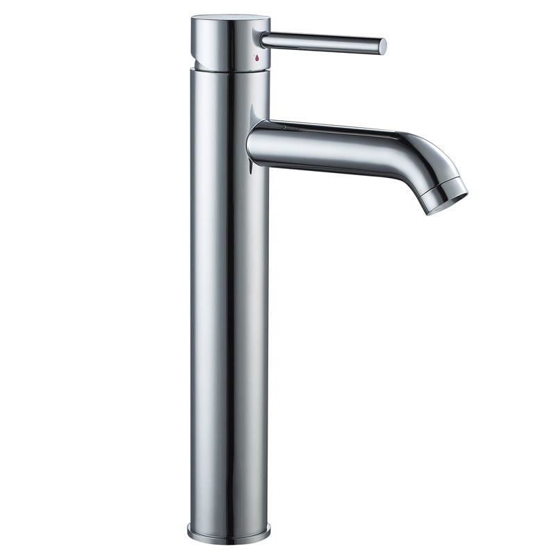 CAE Tall Single Handle Bathroom Vessel Sink Faucet, Grey ...