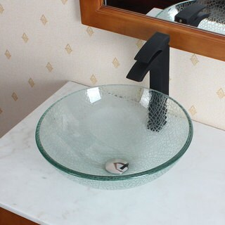 CAE Tempered Glass Bathroom Sink