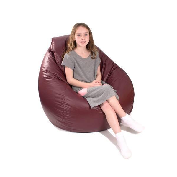 Outstanding Shop Gold Medal Large Vinyl Teardrop Bean Bag Free Creativecarmelina Interior Chair Design Creativecarmelinacom