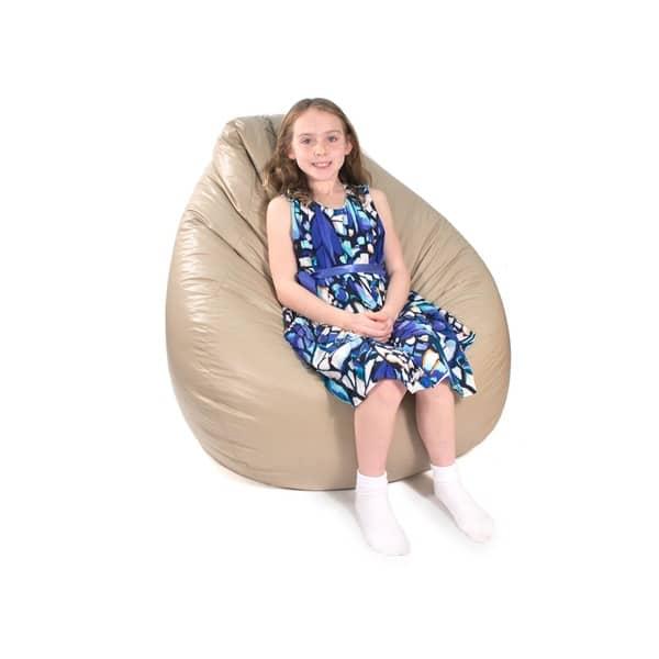 Enjoyable Shop Gold Medal Large Vinyl Teardrop Bean Bag Free Creativecarmelina Interior Chair Design Creativecarmelinacom