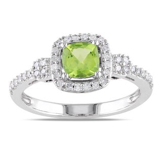 Peridot Rings Engagement Wedding And More Overstockcom Shopping