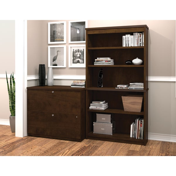 Bestar Palmer Lateral File and Bookcase