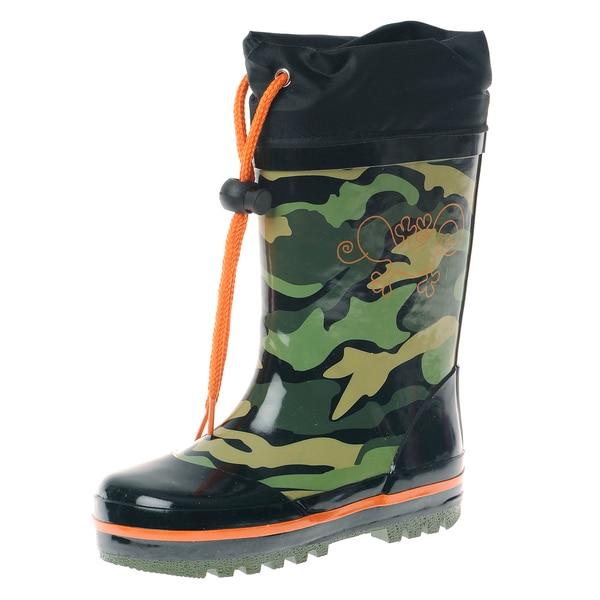 Henry Ferrera Boy Camo Printed Rubber Rain boot