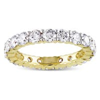 Miadora 14k Yellow Gold TDW Diamond Eternity Ring (G-H, I1-I2)