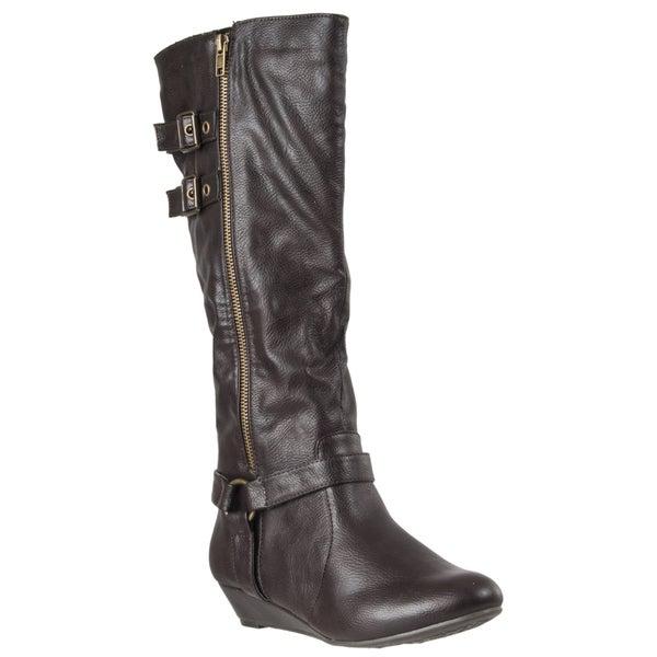 Riverberry Women's 'Tamara' Brown Side-zip Boots
