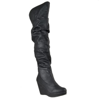Riverberry Women's 'Hush' Over-the-knee Platform Boots