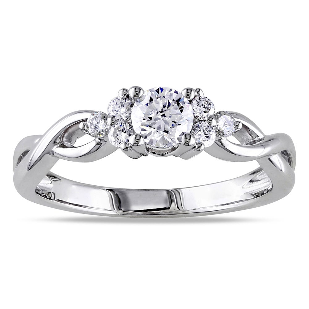 Miadora Signature Collection 14k White Gold 1/2ct TDW Dia...