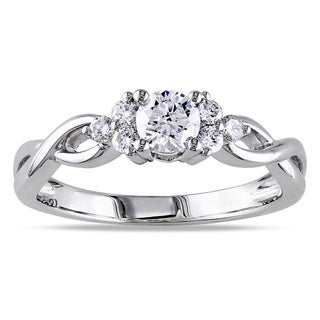 Miadora Signature Collection 14k White Gold 1/2ct TDW Diamond Ring