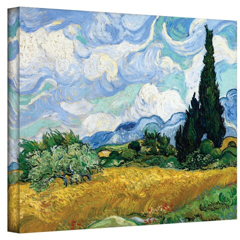 Van Gogh 'Wheatfield with Cypresses' Wrapped Canvas
