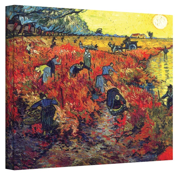Van Gogh 'Red Vineyard at Arles' Wrapped Canvas