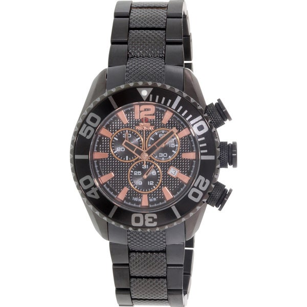Swiss Precimax Men's Deep Blue Pro II Chronograph Watch with Screw-Down Crown