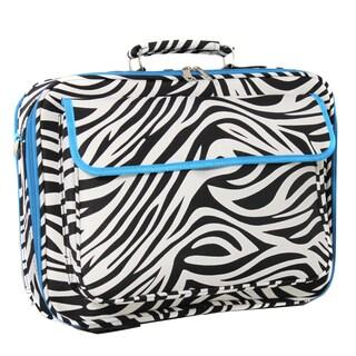 World Traveler Zebra Designer Print 17-inch Laptop Computer Case (Option: Teal)