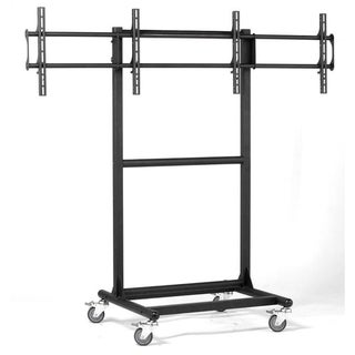 Cotytech Adjustable Ergonomic Mobile Dual TV Cart for 32 to 46 inches