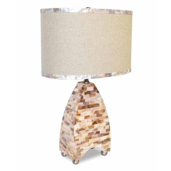 Mother of Pearl Modern Triangular Table Lamp