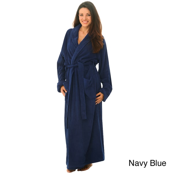 9d6dd549f4 Shop Women s Terry Cotton Full-length Bath Robe - Free Shipping ...