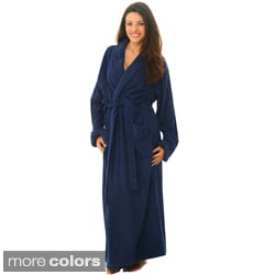 women's terry cotton full-length bath robe - free shipping today
