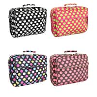 World Traveler Polka Dot Designer Print 17-inch Laptop Computer Case
