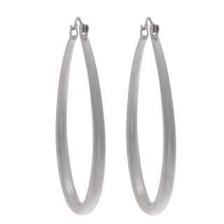 NEXTE Jewelry Silvertone Teardrop Hoop Earrings