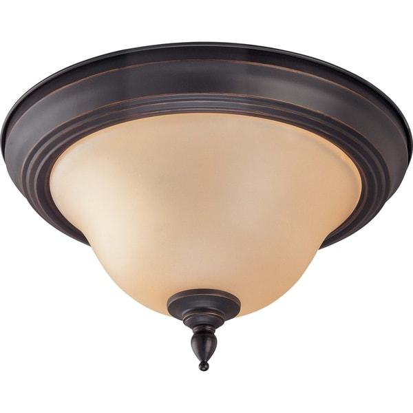 Nuvo 'Halsey' 2-light 11-inch Sudbury Bronze Flush Mount Light