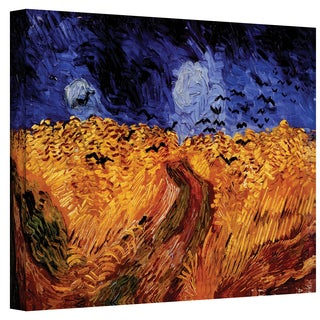 Shop Vangogh Wheatfield With Crows Wrapped Canvas Art