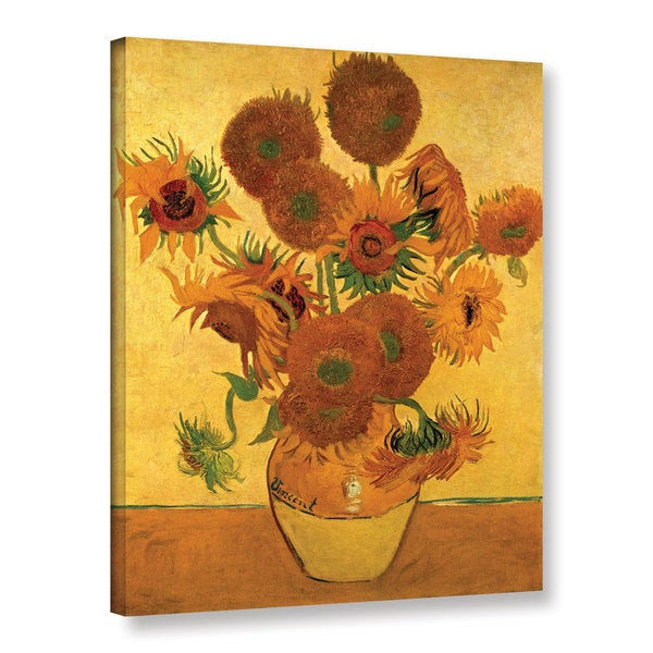 Shop Vangogh Vase With Fifteen Sunflowers Wrapped Canvas Art On