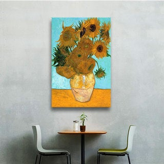 VanGogh 'Vase with Twelve Sunflowers' Wrapped Canvas Art
