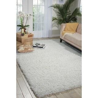 Nourison Zen White Shag Area Rug (3'6 x 5'6)