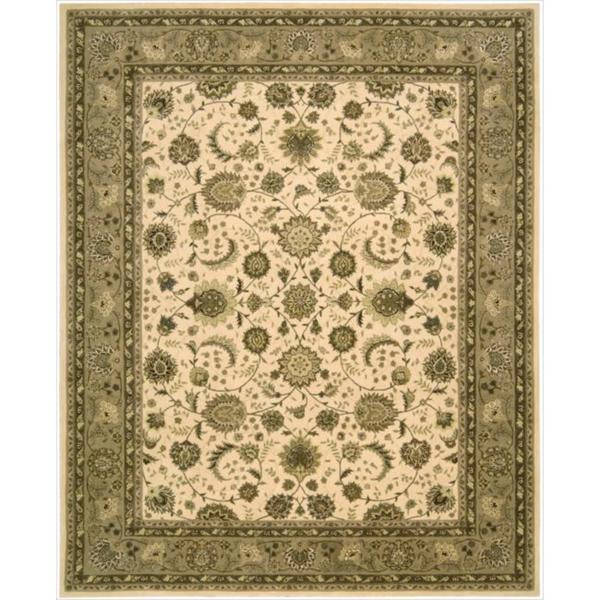 Nourison 2000 Traditional Hand-Tufted Kashan Ivory Wool Rug