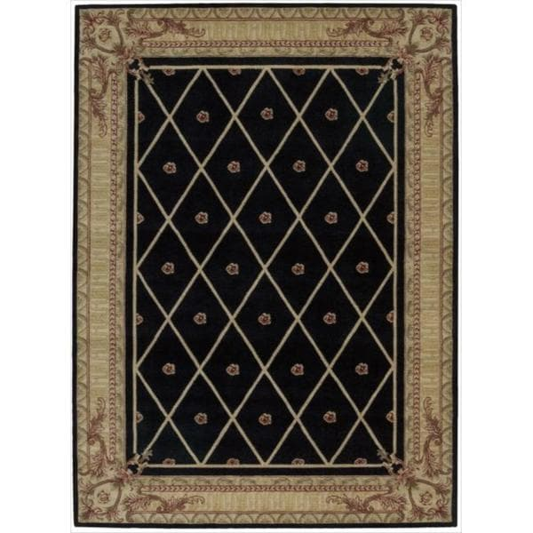 Nourison Ashton House Diamond Black Wool Rug