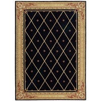 Nourison Ashton House Diamond Black Wool Rug