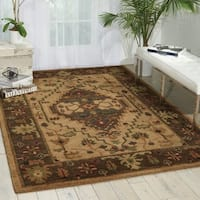 Nourison Hand-Knotted Tahoe Beige Wool Rug