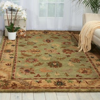 Nourison Hand-Knotted Tahoe Green Wool Rug
