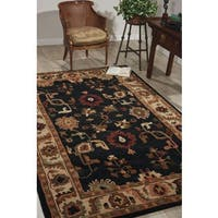 Nourison Hand-Knotted Tahoe Black Wool Rug